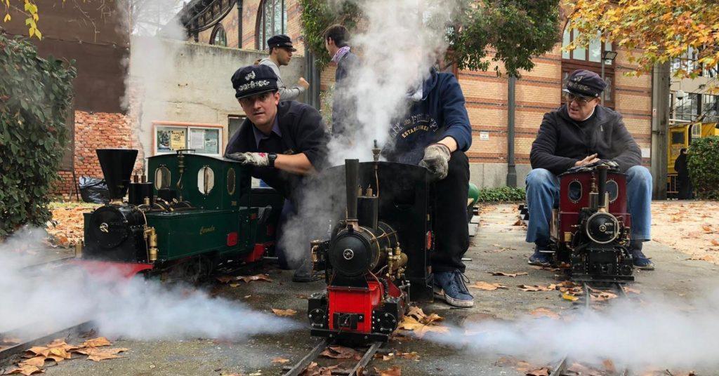 Locomotoras de vapor en la estación Central
