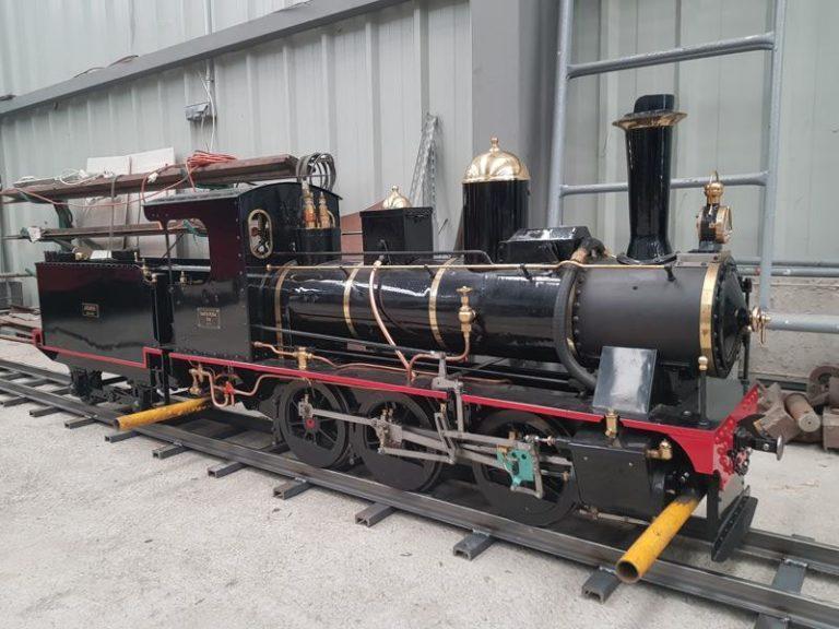 """Locomotora """"Santa Rosa"""" del Parque ferroviario de Venta de Baños"""