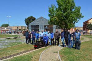 Foto de grupo en Venta de Baños, junto a nuestros amigos de otras asociaciones