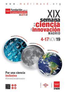 Cartel XIX Semana de la Ciencia y la Innovación de Madrid