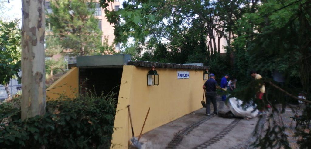 El túnel de Central, ya pintado