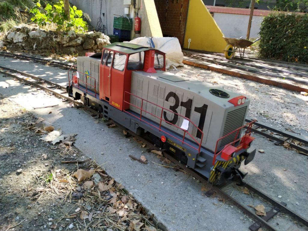 Locomotora 311 en pruebas