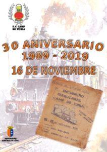 Cartel Encuentro del XXX Aniversario FC Camp de Túria