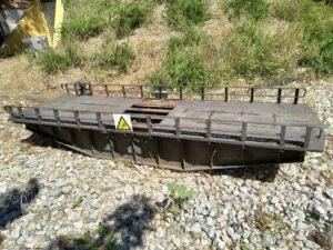 El puente giratorio desmontado