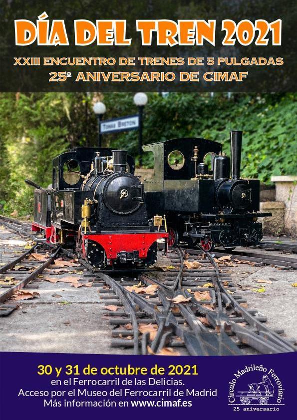 Cartel Día del Tren 2021